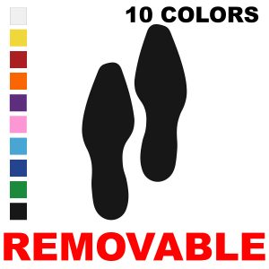 Removable Dress Shoe Footprint