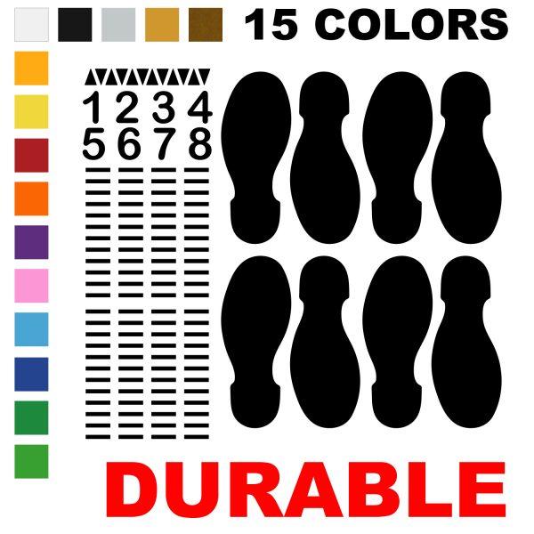 LiteMark Durable Dance Floor Diagram Decal - 8 Step Kit