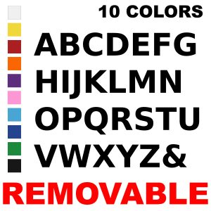 LiteMark Removable 6 Inch Alphabet Pack for Floors and Walls
