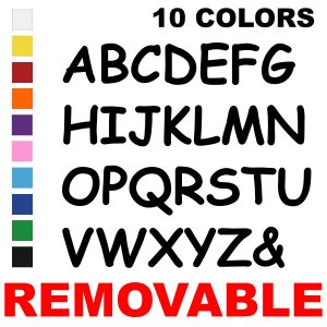 LiteMark Removable 6 Inch Alphabet Packfor Floors and Walls
