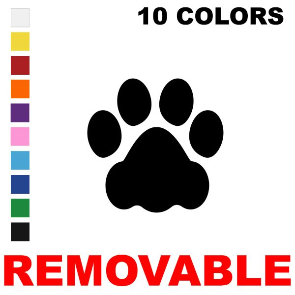 LiteMark Removable Dog Paw Prints