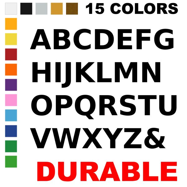 LiteMark 6 Inch Alphabet Packfor Floors and Walls