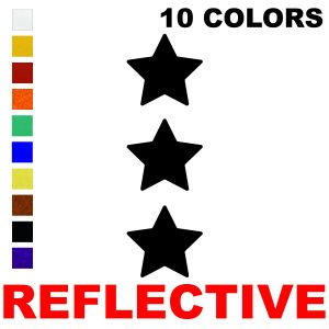 LiteMark Reflective 2 Inch Stars  - Pack of 3