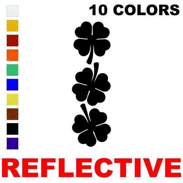 LiteMark Reflective 2 Inch 4 Leaf Clover  - Pack of 3