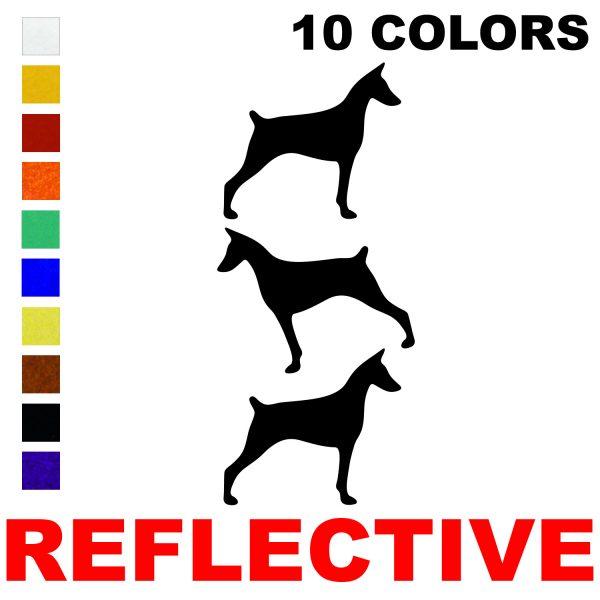 LiteMark Reflective 2.5 Inch Doberman - Pack of 3