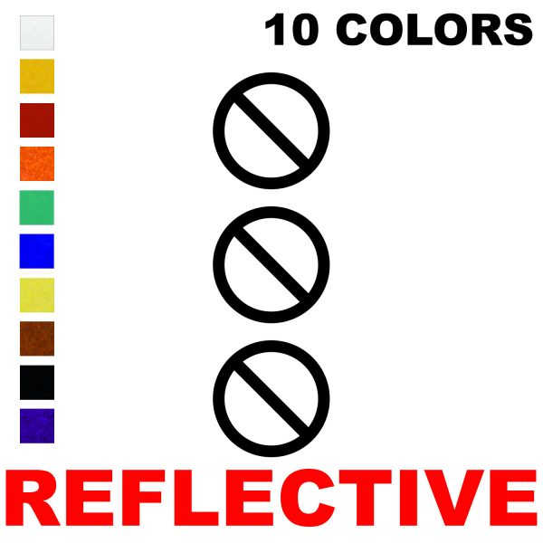 LiteMark Reflective 2 Inch No Symbol - Pack of 3