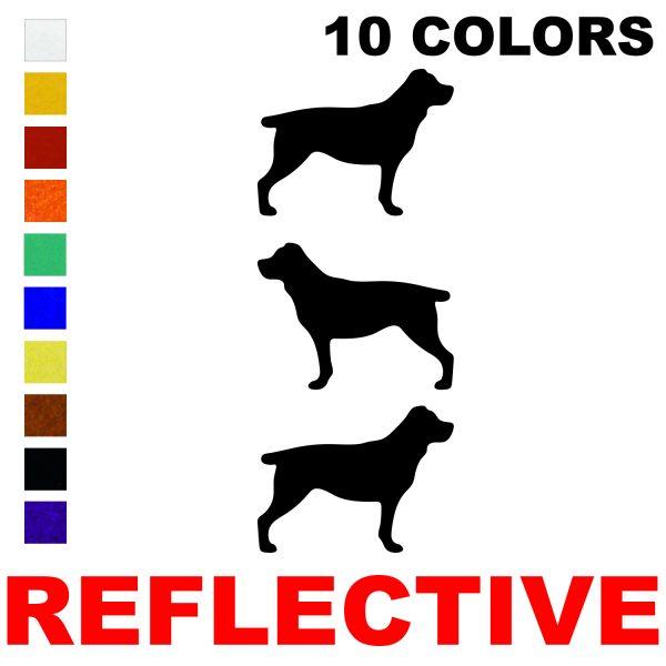 LiteMark Reflective 2.5 Inch Rottweiller - Pack of 3