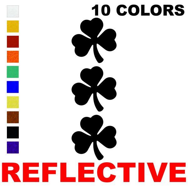 LiteMark Reflective 2 Inch Shamrock  - Pack of 3