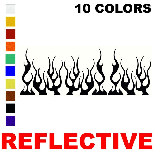 LiteMark Reflective Assorted 4 Inch Flames  Decals  - Pack of 9